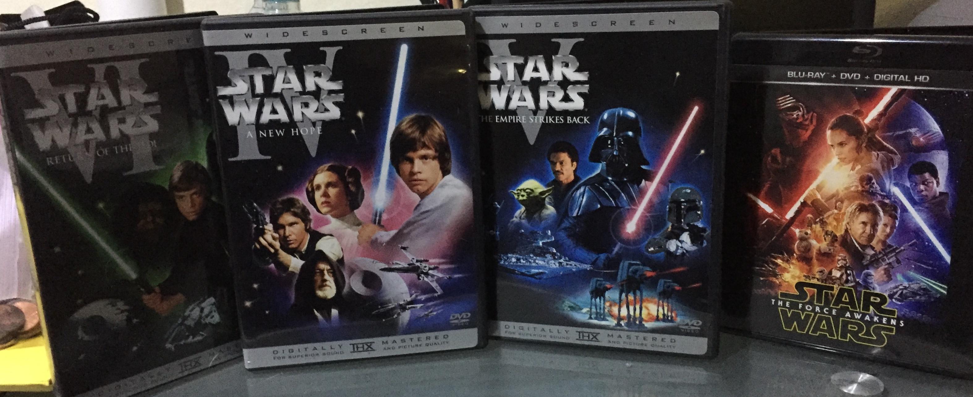 Mis Top 5 en pelìculas de Star Wars (La Guerra de las Galaxias) de episodios 4-8